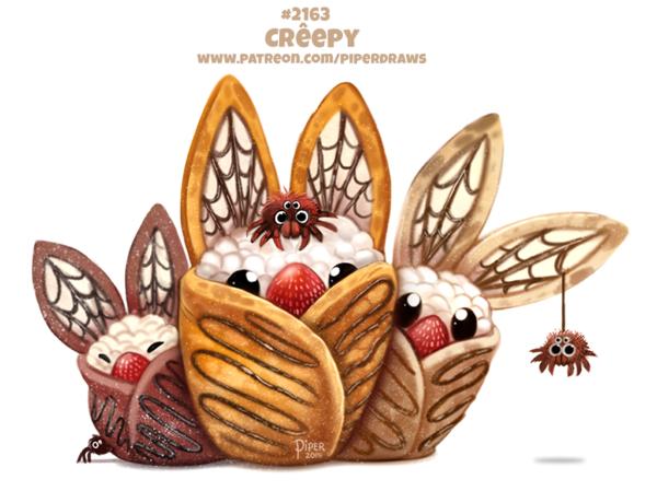 Dessin chauvesouris Halloween crêpe Kawaii Artiste