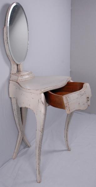 Schminktisch antik mit barock stuhl frisierkommode in for Schlafzimmer vintage optik