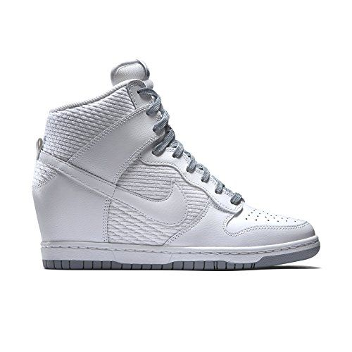 Nike Women's Dunk Sky Hi Essential White/Grey 644877-102 (SIZE: 5.5