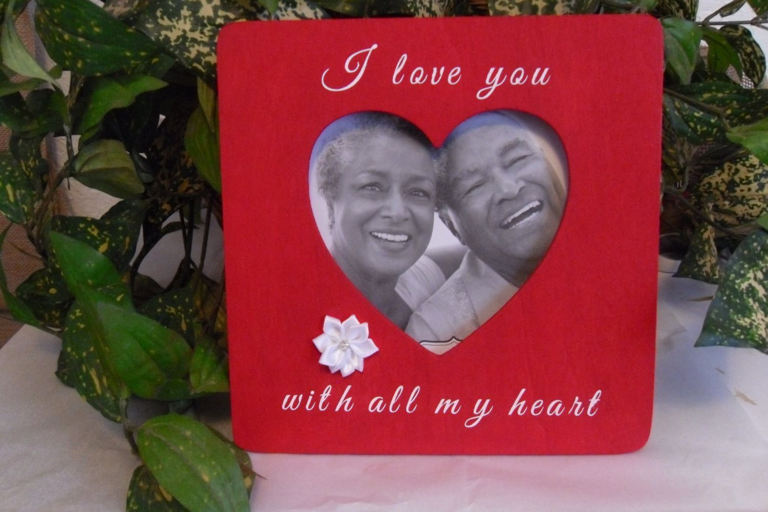 Love picture frame. Couple love frame, Love gift, Anniversary frame ...