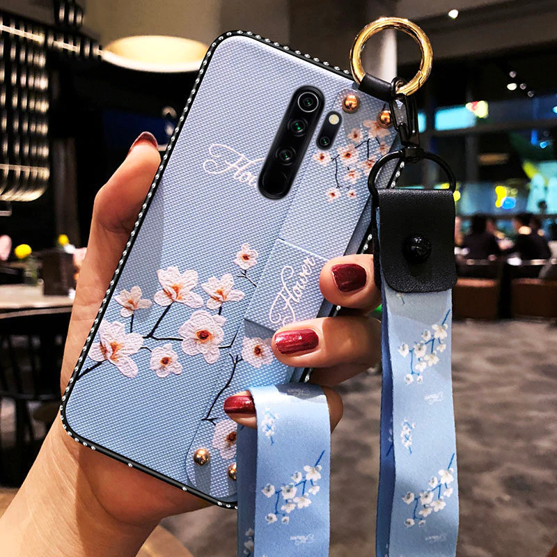 Case For Xiaomi Redmi Note 8 Pro K20 K30 Note 5 5a 5plus 6 6pro 6a 7 7pro 8 8pro 8t With Lanyard Wrist Strap For Redmi Note 9 Case Samsung Galaxy Case Note 8