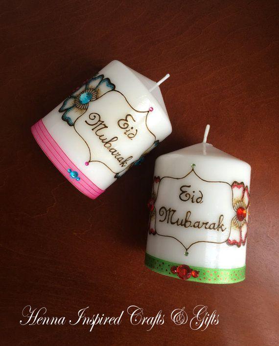 Eid Mubarak Henna Candle Eid Gift Ramadan Eid Festival Home Decor