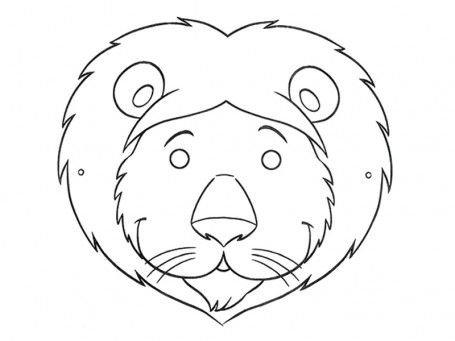Aslan Maskesi Okul Öncesi Pinterest - paper face mask template