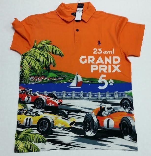 bf594dbb1c1 Polo Ralph Lauren Mens Sz XL Orange Grand Prix Short Sleeve Limed Edition  Rare  PoloRalphLauren  PoloRugby