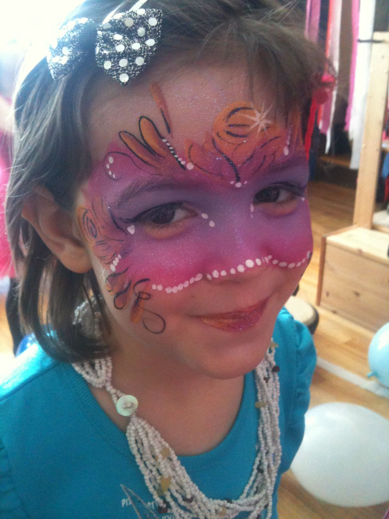 Face painting birthday party