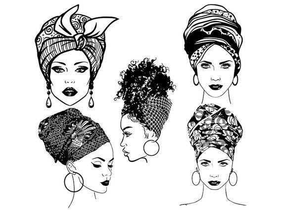 Bundle Of 5 Woman Collection Set Turban Head Wrap