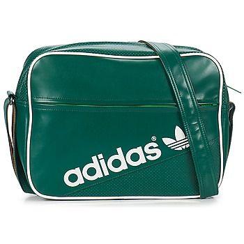 ccfc34a311ea ADIDAS ORIGINALS AIRLINER PERFORATED SHOULDER BAG IN FOREST GREE - ADIDAS  ORIGINALS - MelMorgan Sports