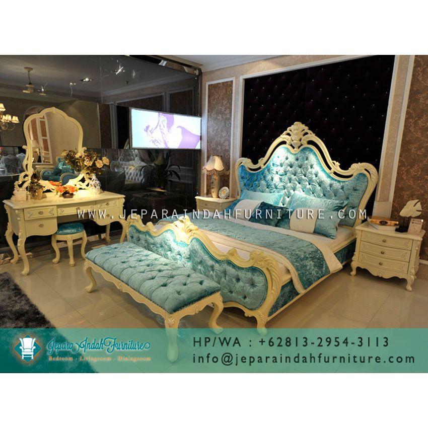 Jual Set Kamar Tidur Mewah Calista Dengan Desain Antik French Style Tahun 70an Yang Terbuat Dari Kayu Mahoni Dengan War Sister Home Luxurious Bedroom Furniture