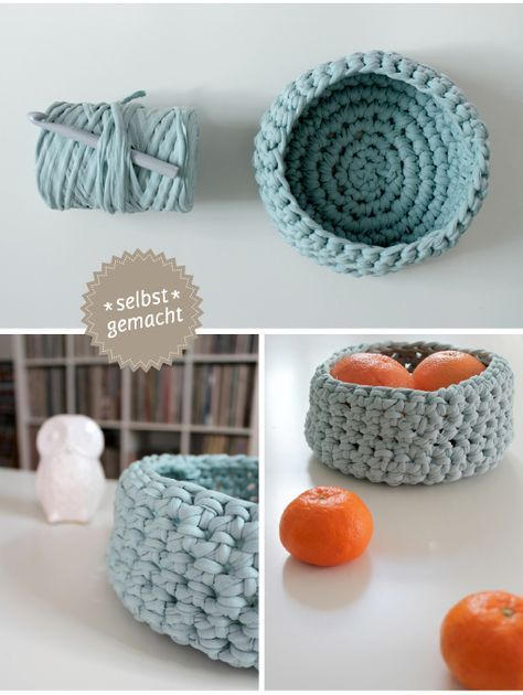 DIY: It\'s Zpagetti-Time! | Strickstücke | Pinterest | Körbchen ...