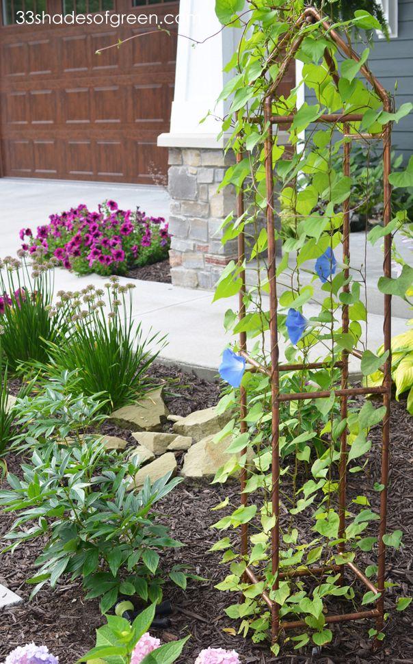 33 Shades of Green: DIY Copper Trellis Tutorial | Gardening ...