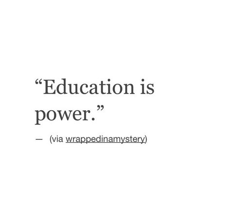 Quotes On Importance Of Women: Education Is Power! Important Feminist Quotes, Women's