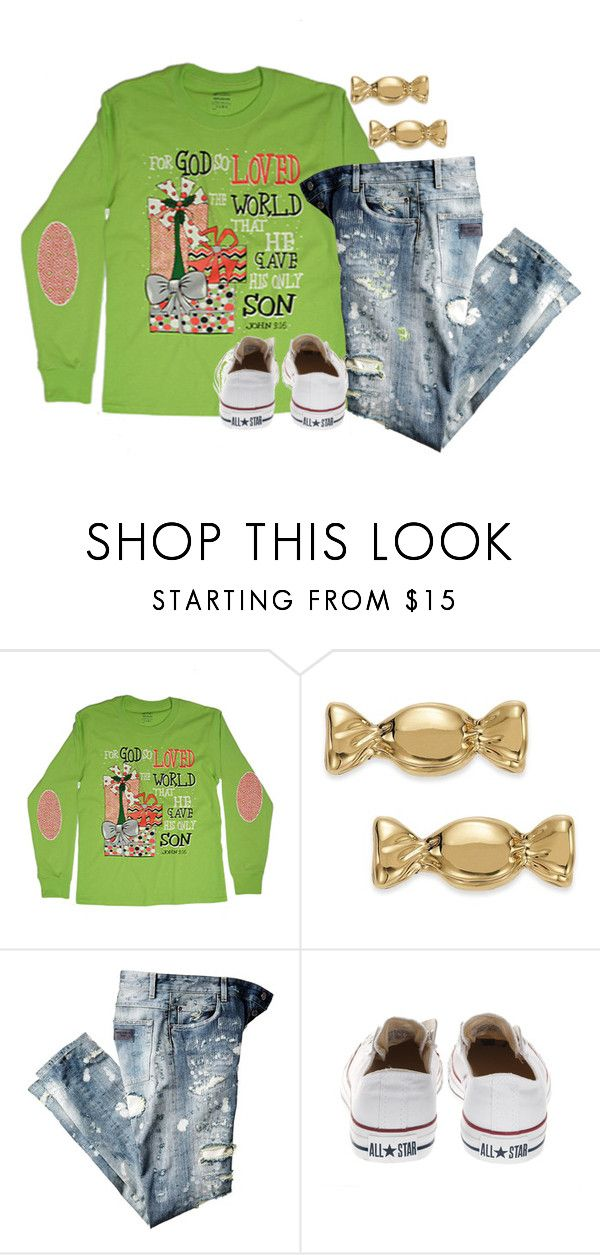 """""""Who is going to do a Christmas haul?!"""" by kvonhoffmann ❤ liked on Polyvore featuring Kate Spade, Dolce&Gabbana and Converse"""