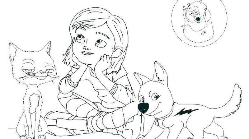 Bolt Coloring Pages Printable Cartoon Coloring Pages Dog Coloring Page Free Disney Coloring Pages