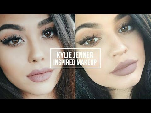 KYLIE JENNER INSPIRED MAKEUP TUTORIAL | Natural Smoky Eye + Classic Kylie Lip…