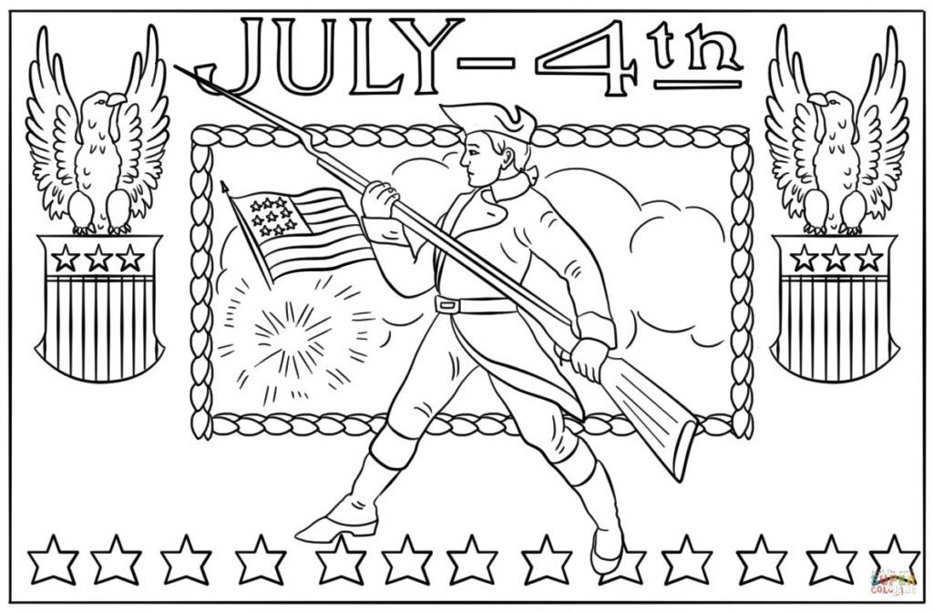 4th of July Coloring Pages The Day of Independence of