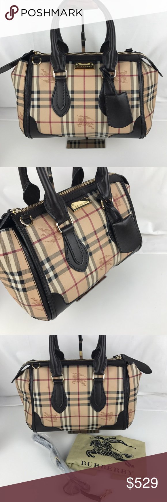 988fb34b0163 Burberry Plaid Gladstone Chocolate Tote 3870759 Authentic Burberry Style  3870759. Gently used with Original Dust