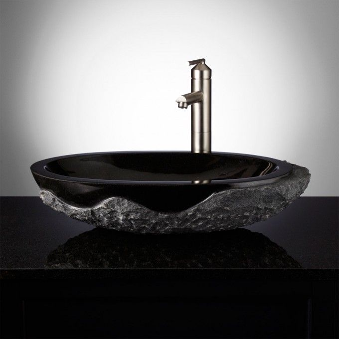 Harney Stone Vessel Sink - Chiseled Edge Bathroom Pinterest - Vessel Sinks Bathroom