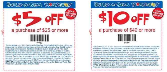 photo relating to Build a Bear Coupons Printable named Develop A Endure Workshop Discount coupons Establish-A-Undergo Workshop