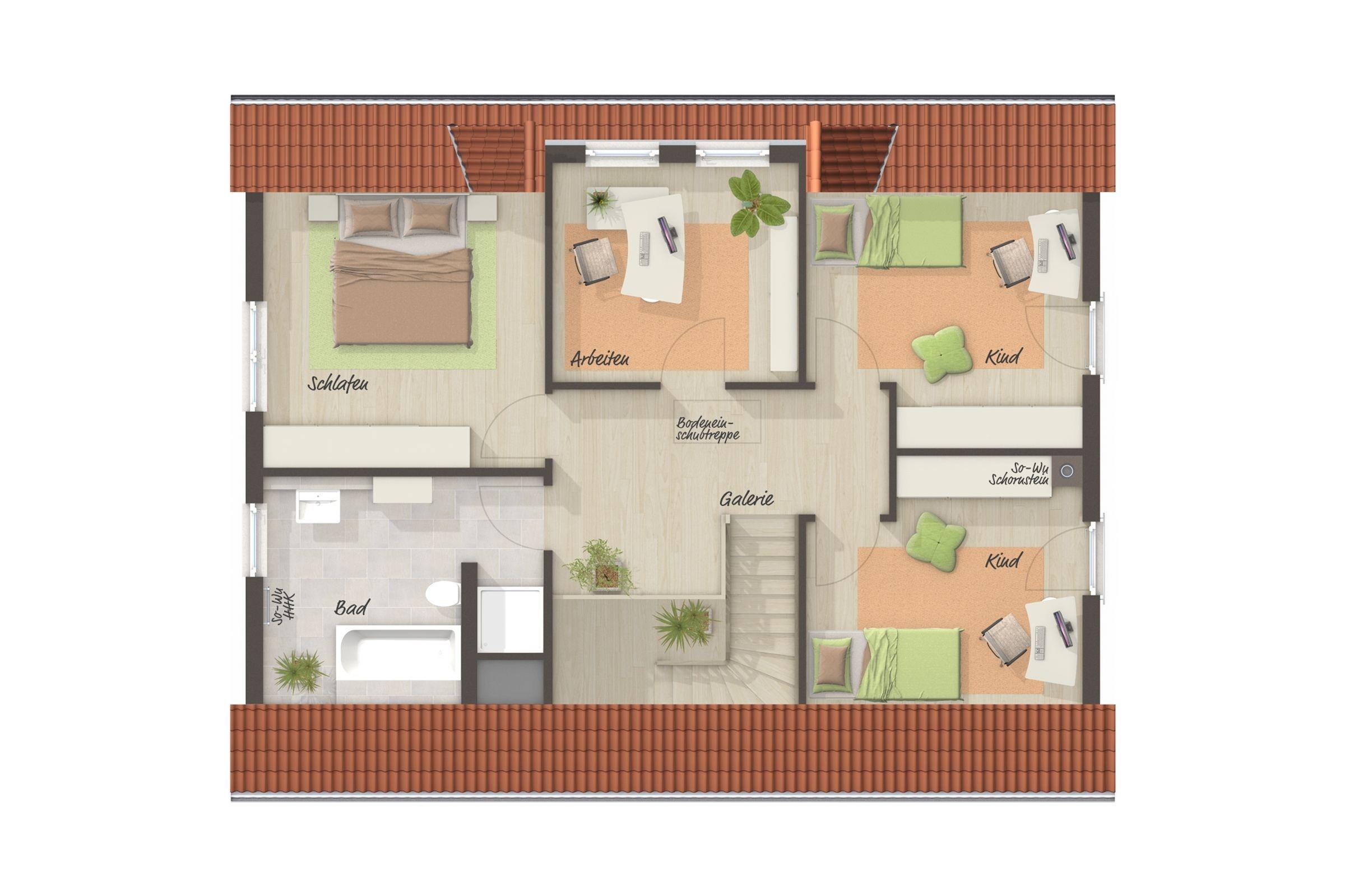 Grundriss Einfamilienhaus Obergeschoss Mit Satteldach
