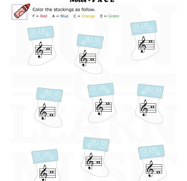 Space notes in the treble clef.