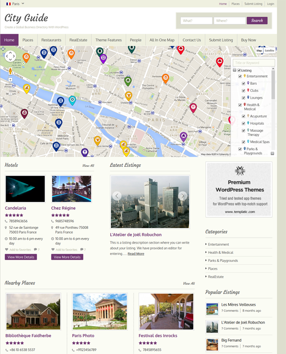 This Travel WordPress Theme Comes With Easy Color Customization - Wordpress contact us page with google map