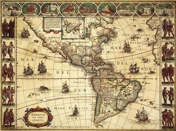 Resultado De Imagen Para Mapa Cartografico America Antique World Map Ancient Maps Old World Maps