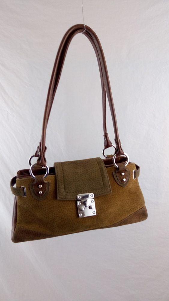 Purse Handbag Chiarini Argentina Cuero Vaca Brown Suede Hippie Boho Bag