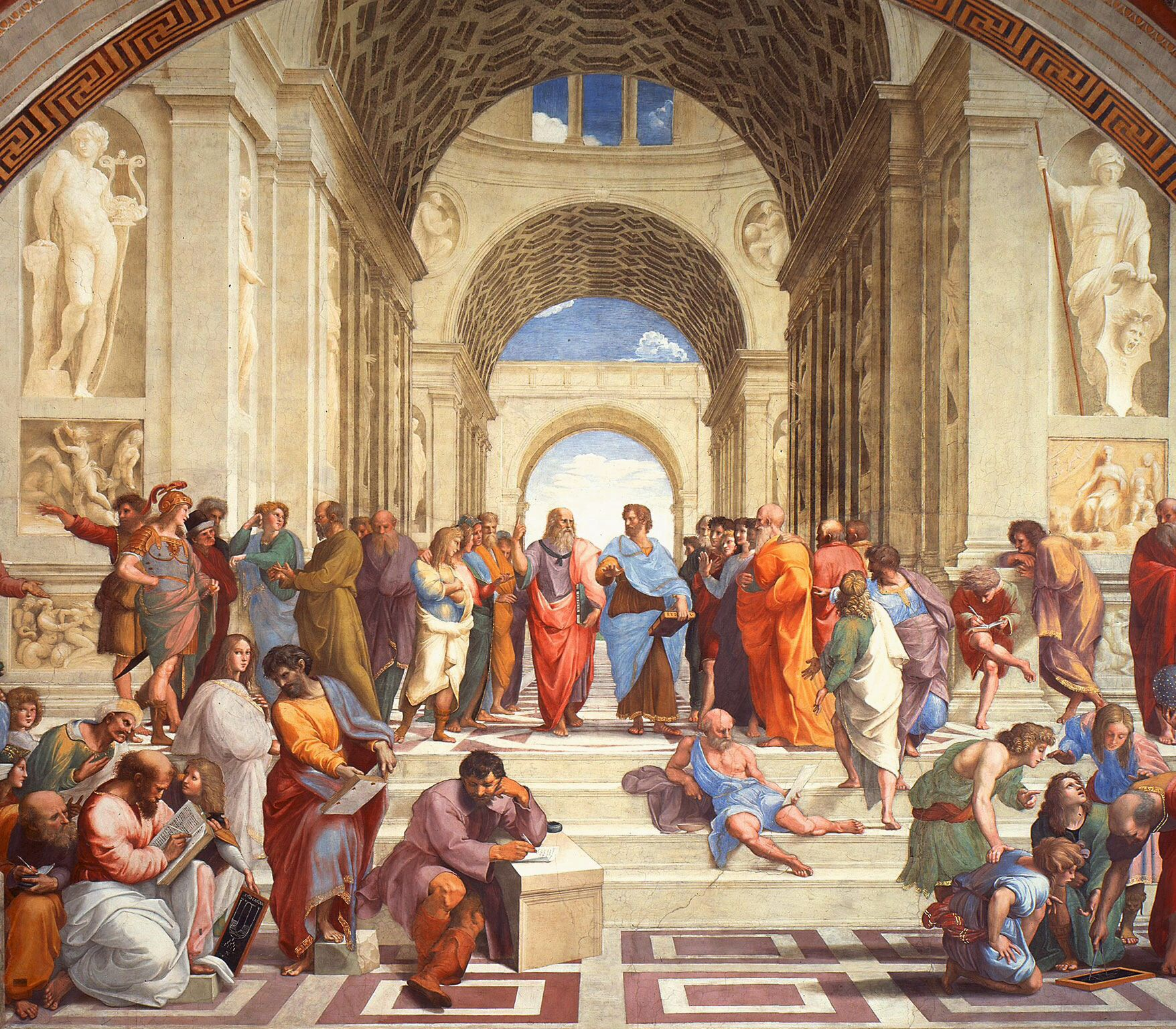 The School Of Athens Scuola Di Atene By Italian Renaissance Artist Raphael Sanzio