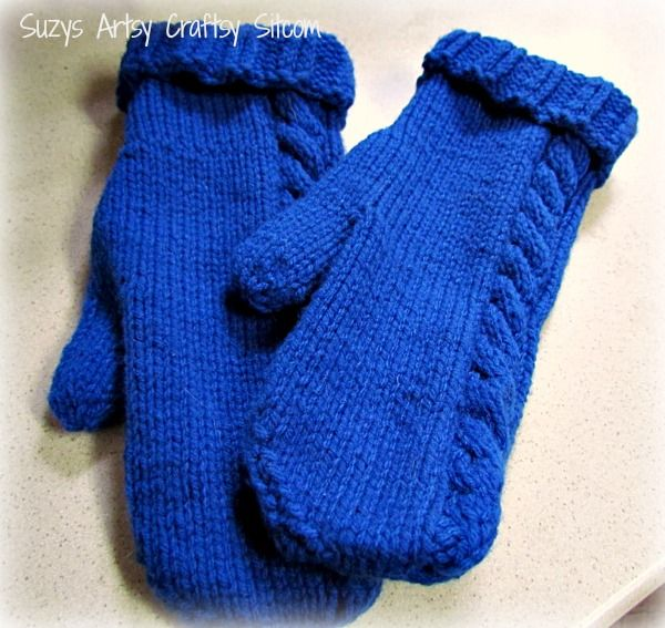 Need A New Knitting Project Cable On The Side Mittens Mittens