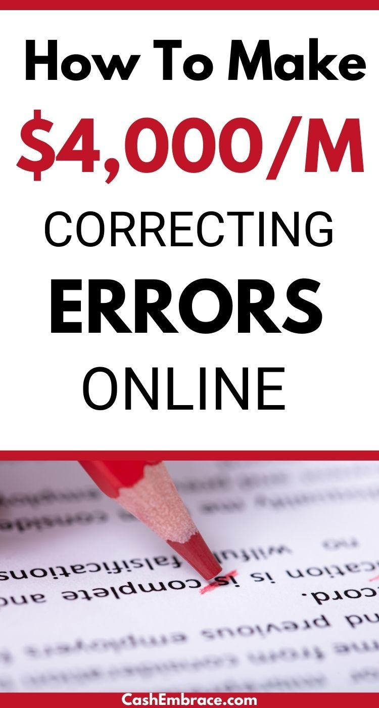 How To Make $4,000/Month Correcting Errors Online