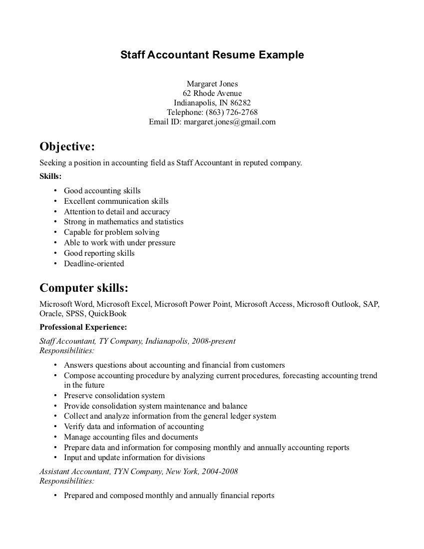 Resumes For Accountants Accounting Resume Samples Visualcv Sample