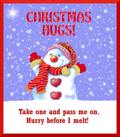 Christmas Hugs Cute Winter Snow Christmas Snowman Christmas Quotes  Christmas Quote