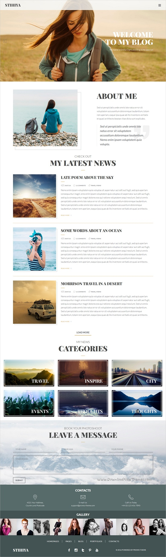 Photography Stihiya | Photography and Portfolio template | Template
