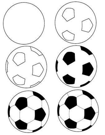Hw To Draw A Football Printables Pinterest Soccer Ball Soccer