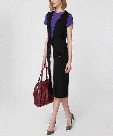 Look what I found on #zulily! Black Tie-Waist Vest #zulilyfinds