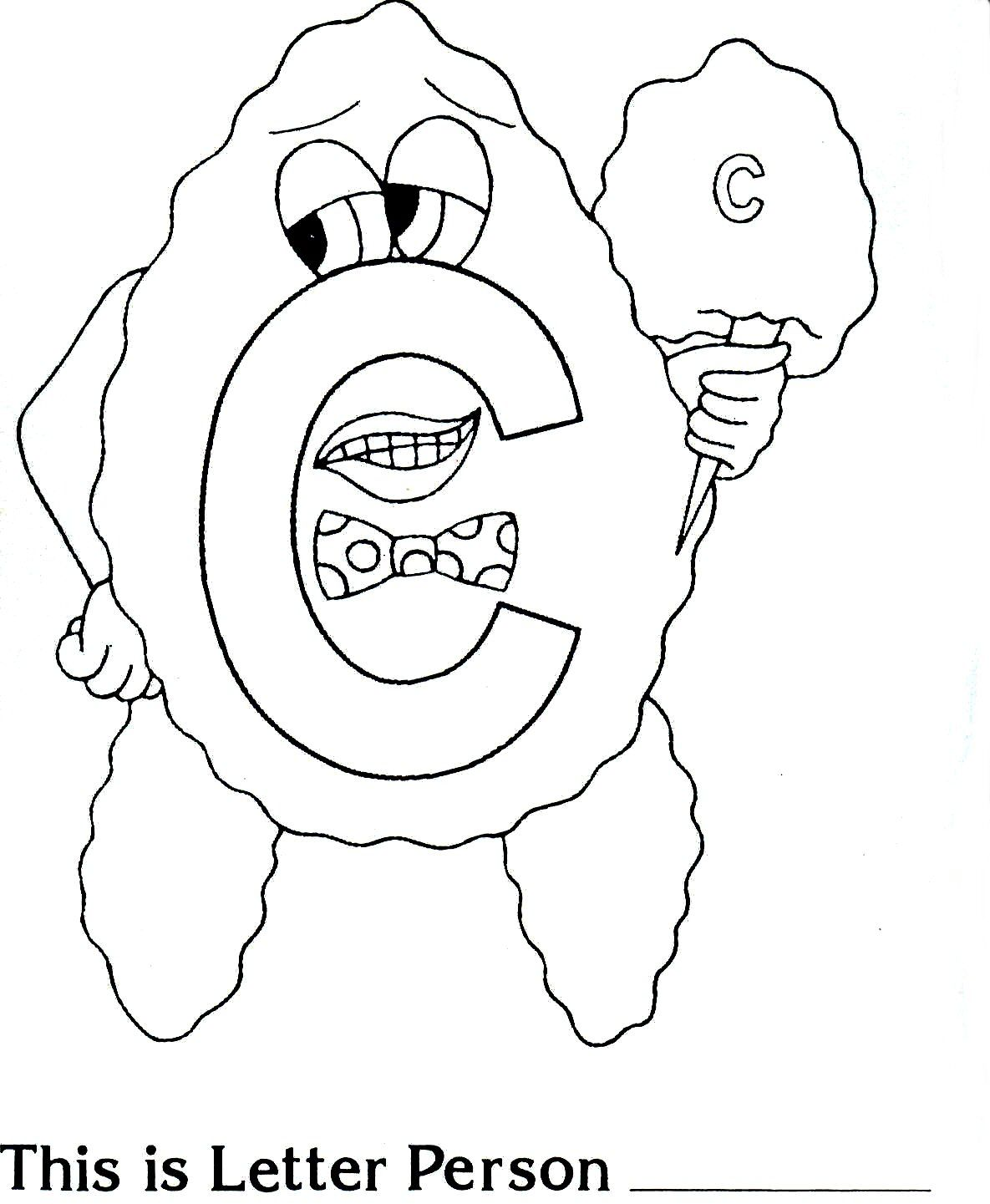 Brilliant Beginnings Preschool Letter Person C Coloring Page