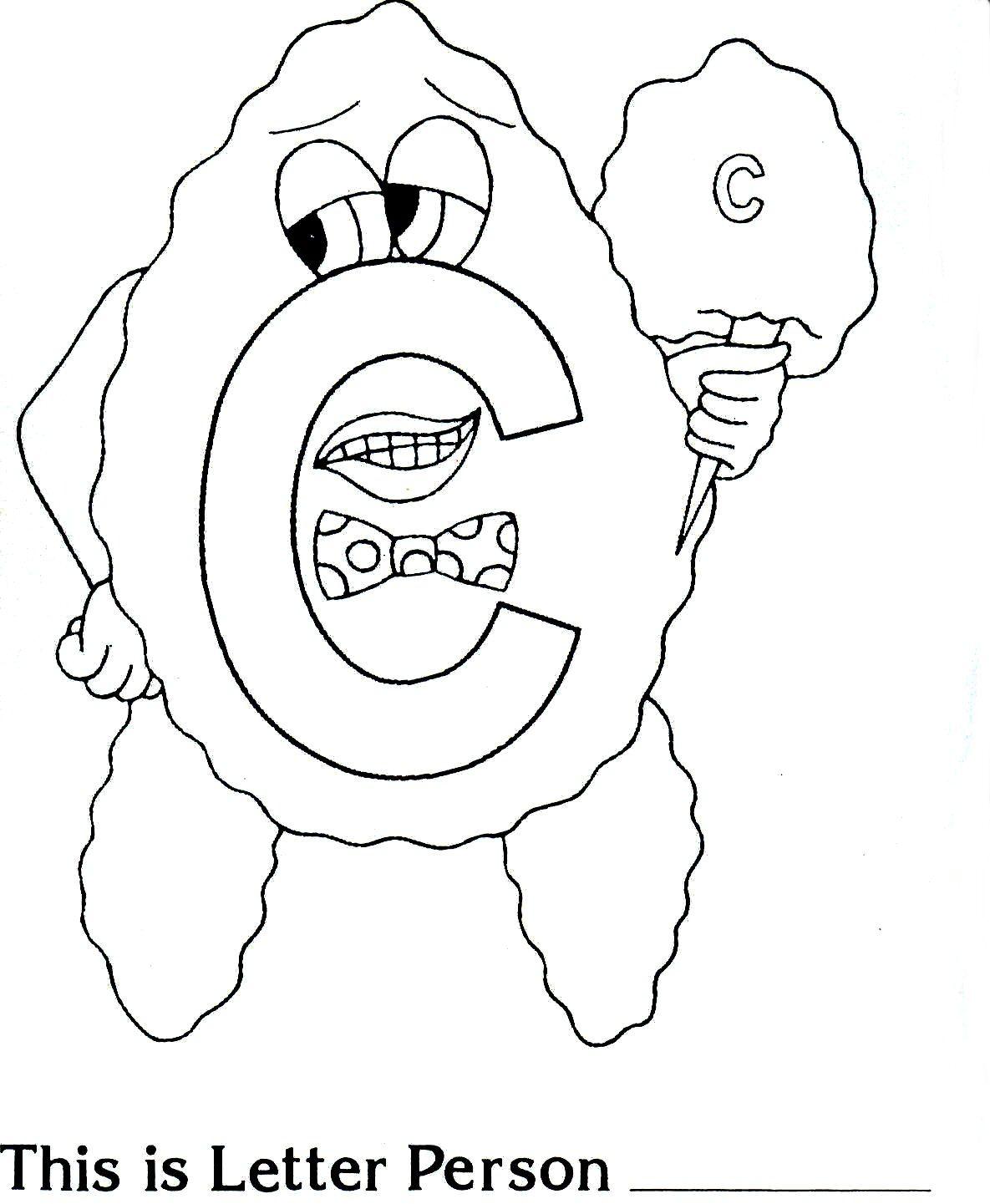 Brilliant Beginnings Preschool Letter Person C Coloring