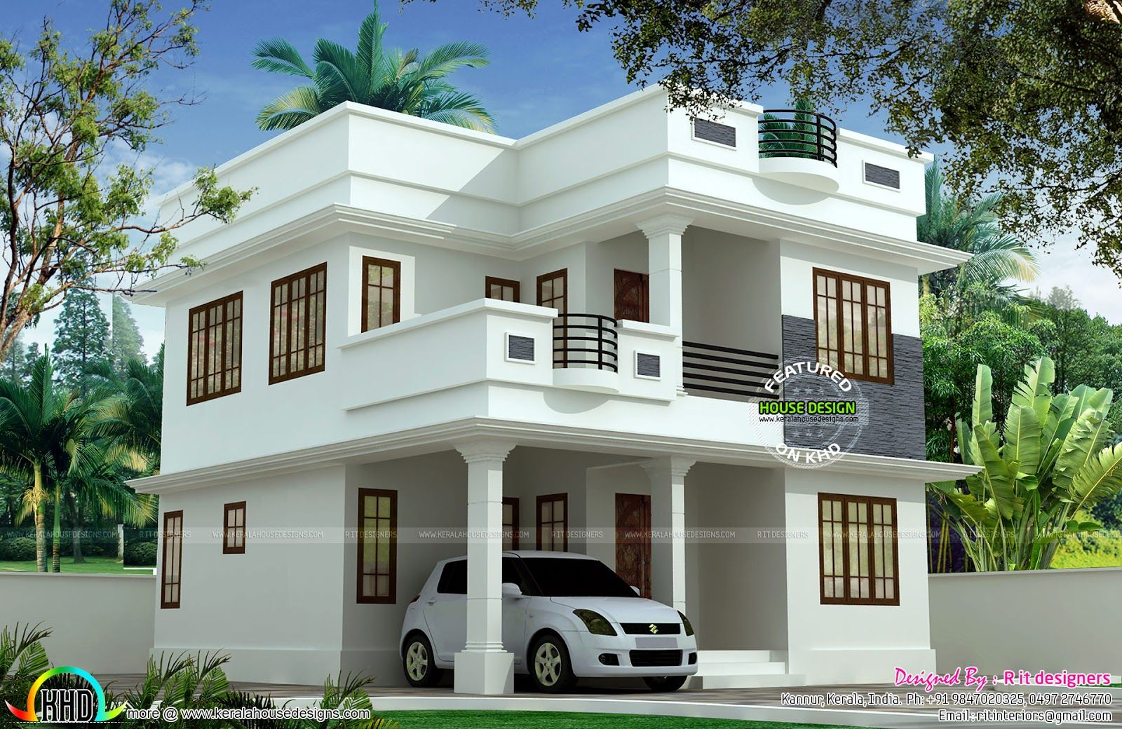 1897 Sq Ft Cute Double Storied House Kerala House Design