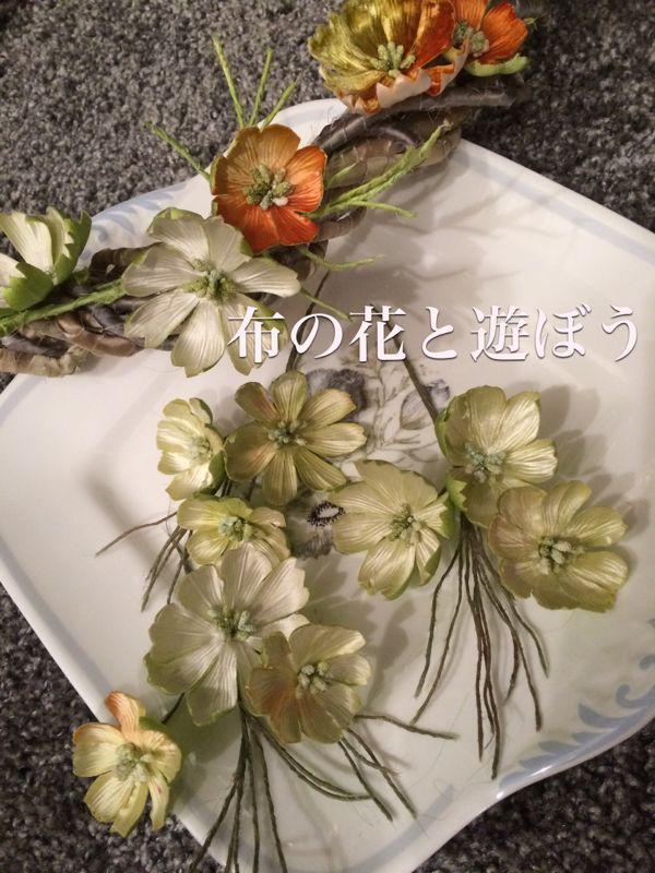 ちりめんの素朴な薔薇 | 布の花と遊ぼう - 楽天ブログ