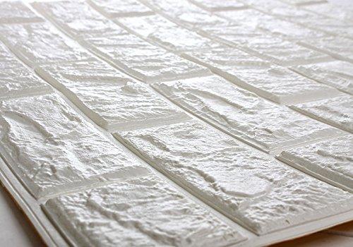 Amazonsmile Deelf 20 Pcs 3d Brick Wallpaper Peel And Stick Panels White Brick Textured Effe 3d Brick Wallpaper Brick Wallpaper Brick Wallpaper Peel And Stick