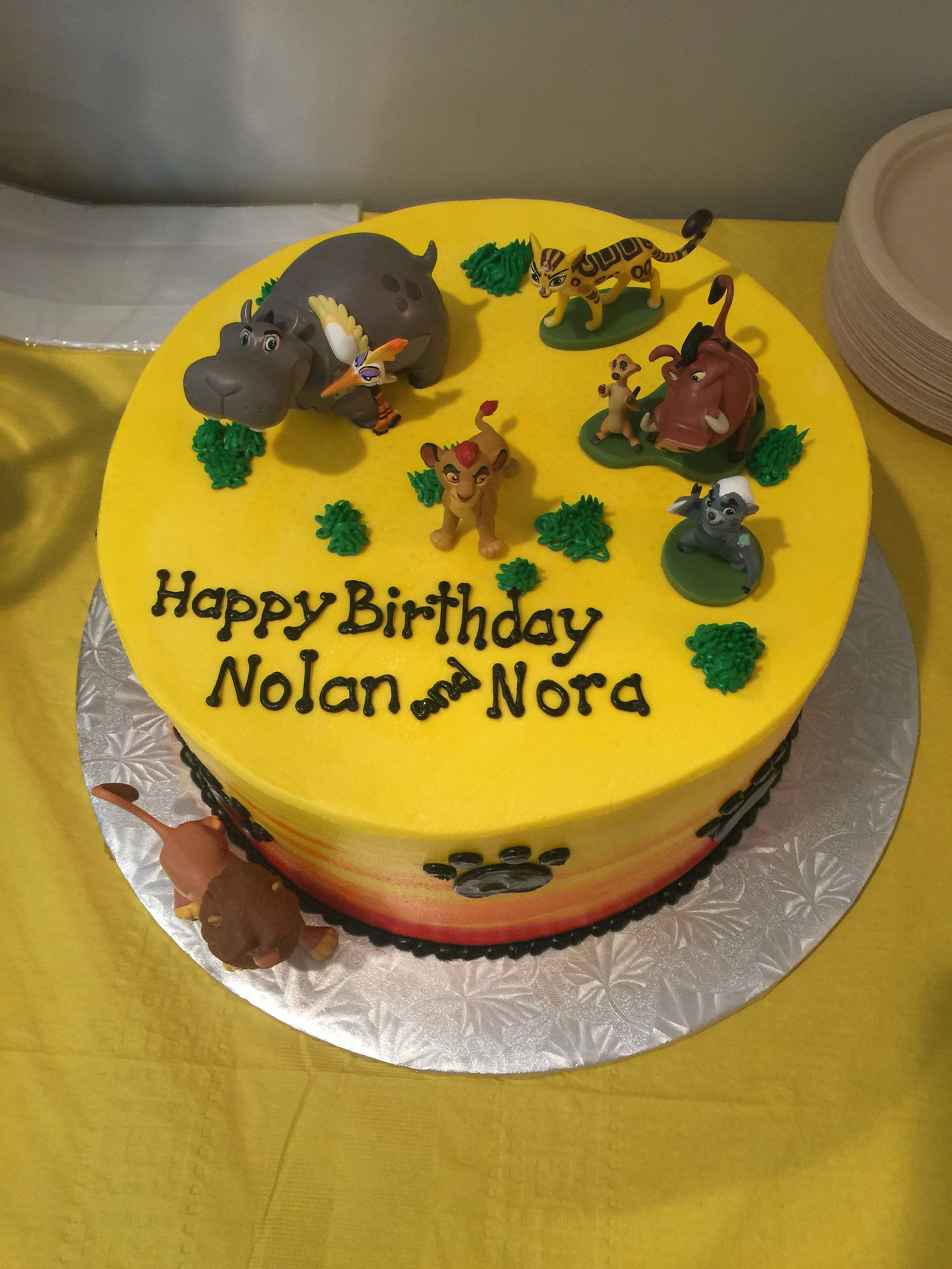 Lion Guard Birthday cake Lion guard party ideas Pinterest