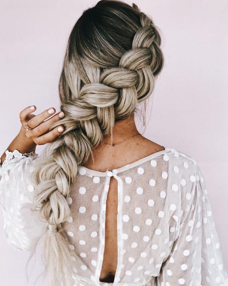 смотреть картинки косички на длинные волосы