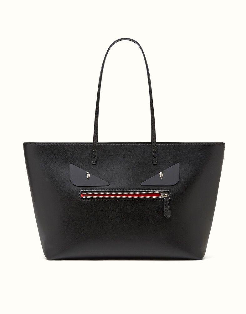 378808bd6c7e FENDI ROLL BAG - Bag Bugs black leather shopper bag - view 1 detail ...