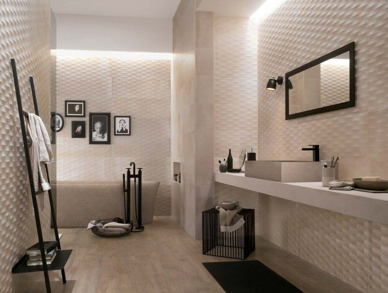 Azulejos para baños modernos - cien ideas geniales | Azulejos de ...