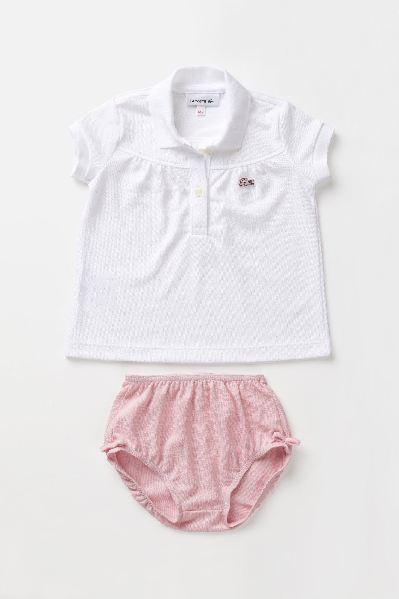 Baby Pink Lacoste Polo