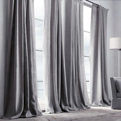 Vorhang Grau Leinen ( 1 Stück )   Schlafzimmer   Pinterest ...