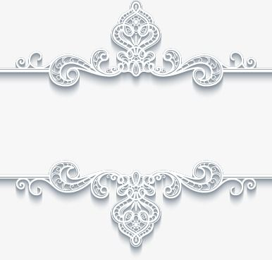 Continental Exquisite Three Dimensional Pattern White Border Continental Fine Three Dimensional Png Transparent Clipart Image And Psd File For Free Download Paper Floral Flower Graphic Design Royal Frame