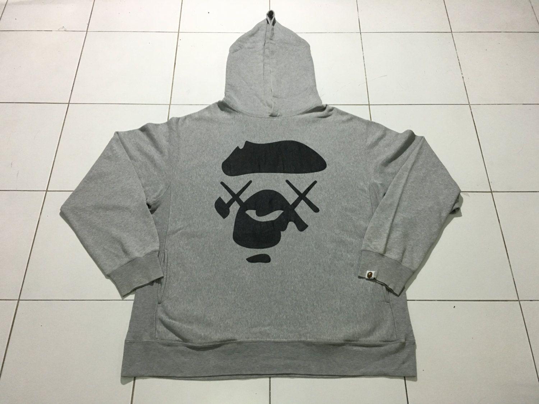 ae90b96f3 Very Rare A Bathing Ape Bape X Kaws Hoodie Pullover Sweatshirt Bape Head  Logo Ape Shall Never Kill Ape Authentic 100% made in japan by AllStyle99 on  Etsy