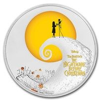 1 Oz Silver Coin Disney Tim Burtons The Nightmare Before Christmas 2020 Australia 2017 Niue 1 oz Silver $2 The Nightmare Before Christmas | Silver