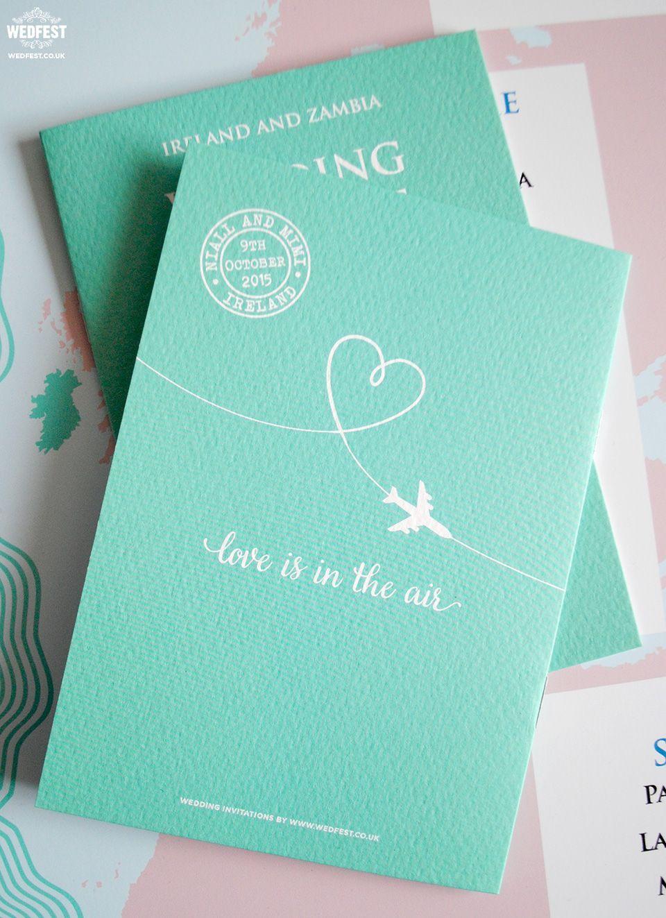 Wedding passport invite festpassportwedding